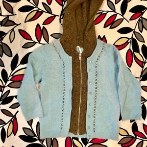 Free People Cardigan Sweater With Hood